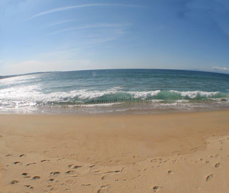 6个海滩场面 库存照片