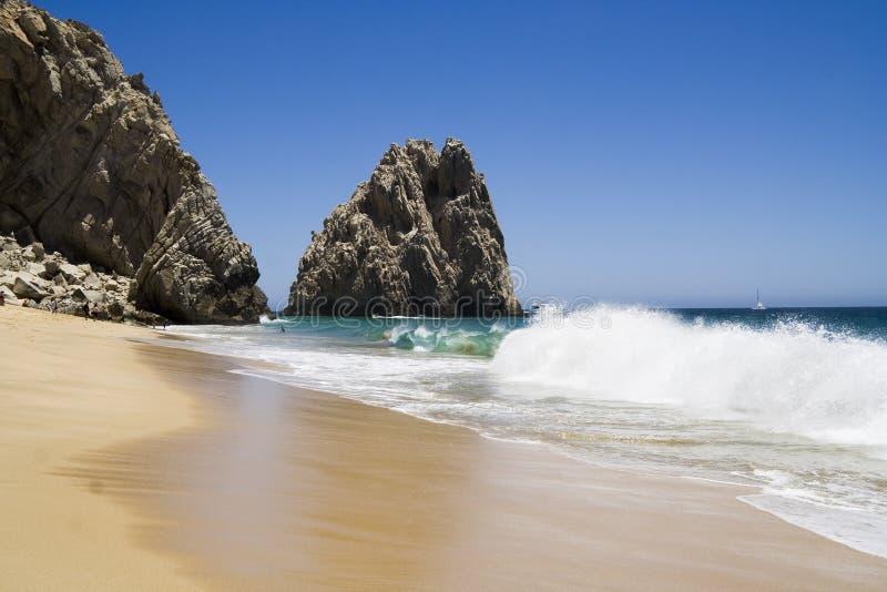 6个海滩恋人和平的s 免版税库存照片