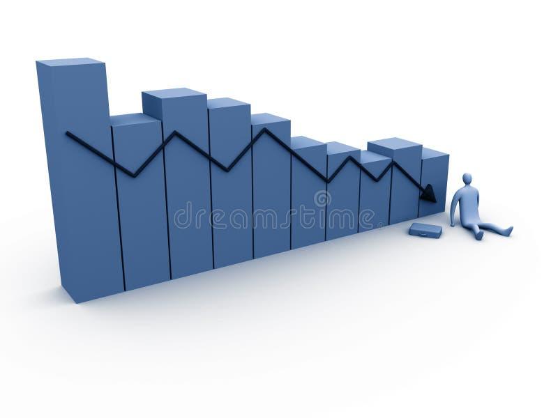 6个经济情况统计 向量例证