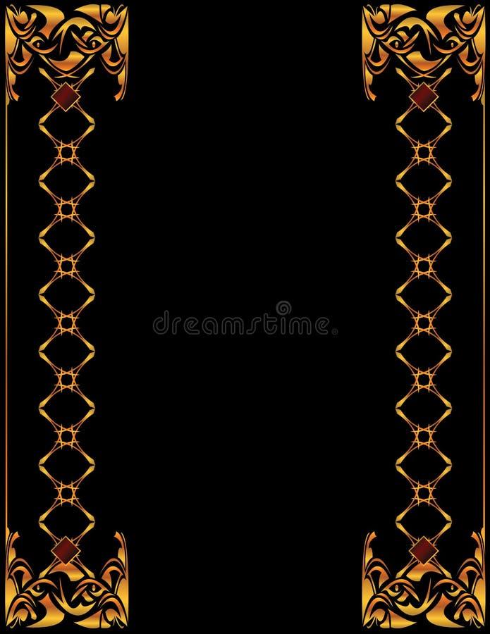 6个背景典雅的金子 库存例证