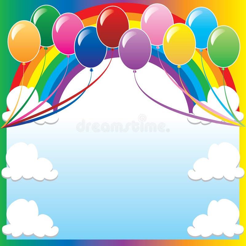 6个背景气球 向量例证