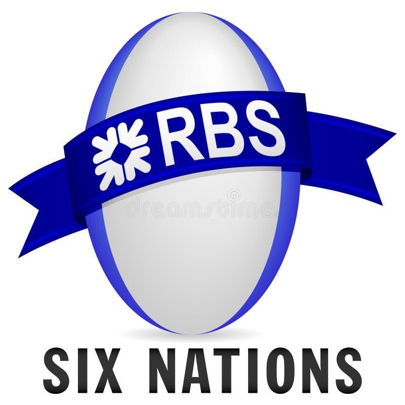 6国家rbs橄榄球 库存例证