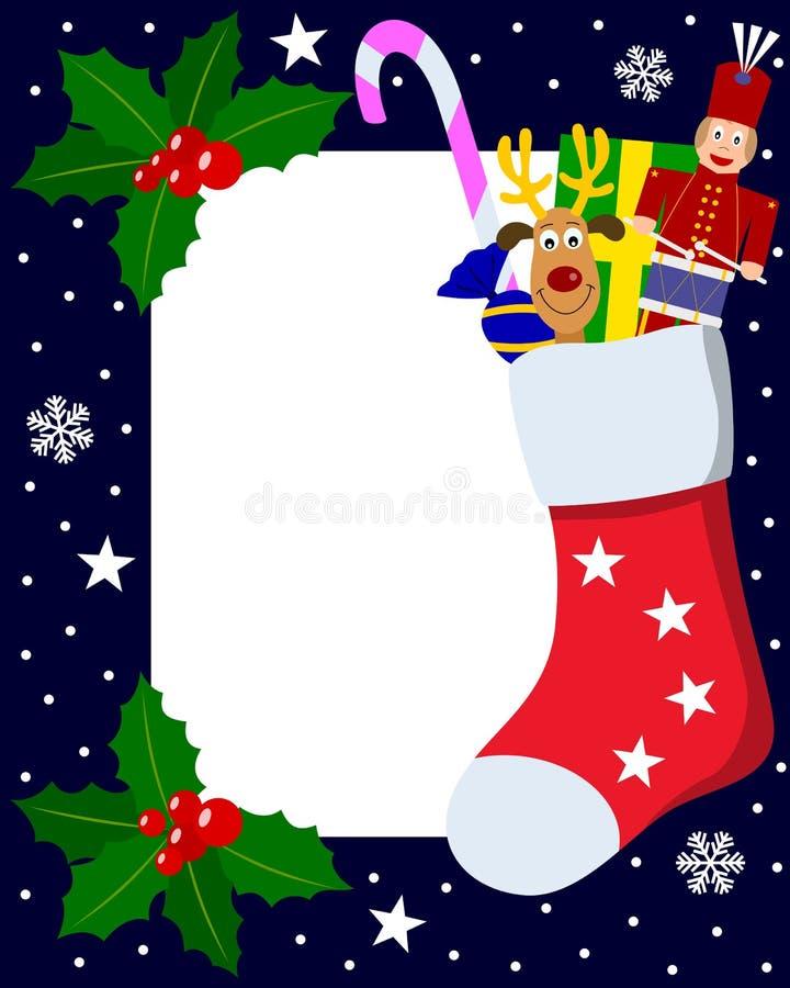 6圣诞节框架照片 库存例证