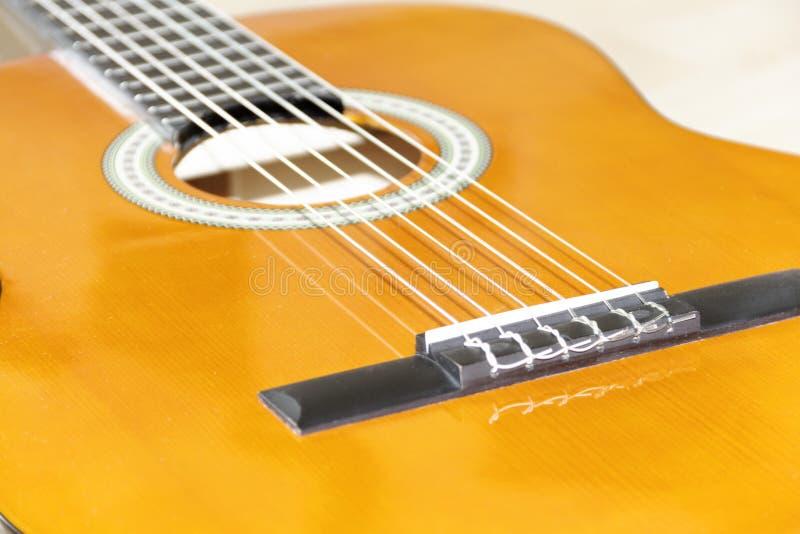 6把吉他字符串 免版税库存照片