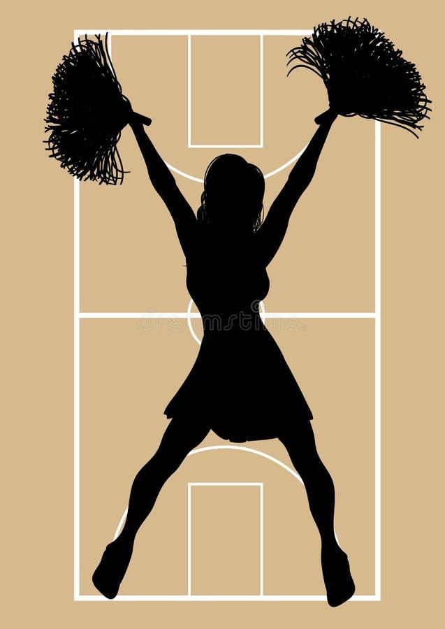 6篮球啦啦队员 库存例证
