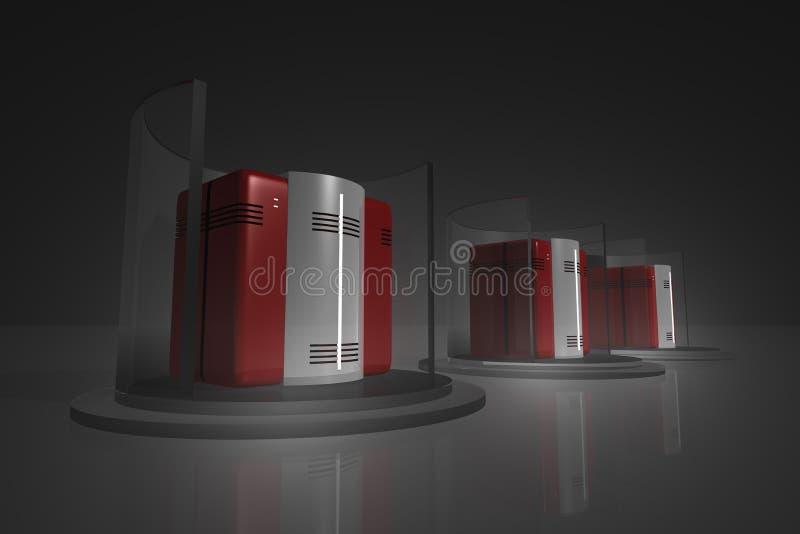 6黑色机架服务器 向量例证
