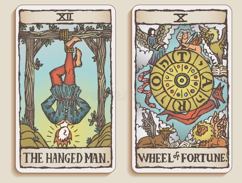6 κάρτες tarot δύο β ελεύθερη απεικόνιση δικαιώματος