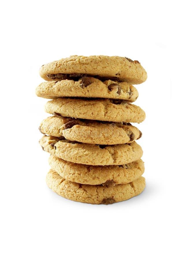 6 μπισκότα τσιπ choc συμπεριλαμβανόμενα paht στοκ εικόνες