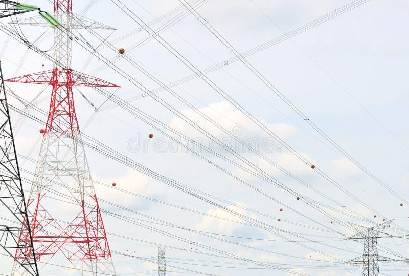 6 σειρές ισχύος δικτύου στοκ εικόνες με δικαίωμα ελεύθερης χρήσης