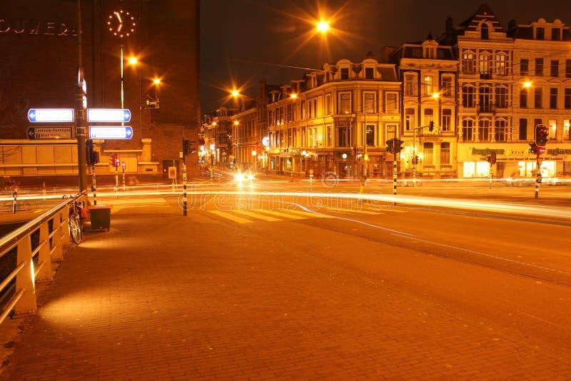 6 Амстердам на почти 19:00 стоковые фотографии rf