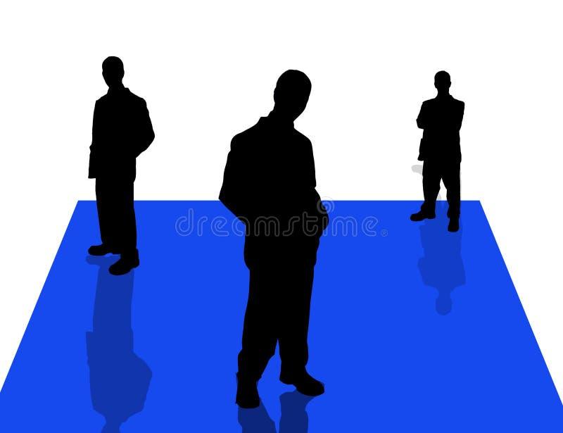 6 бизнесменов теней бесплатная иллюстрация