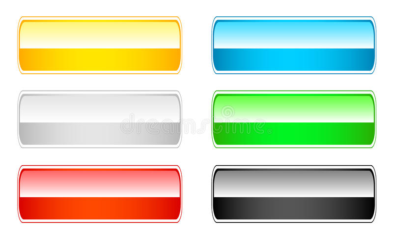 6 кнопок установили глянцеватой иллюстрация штока