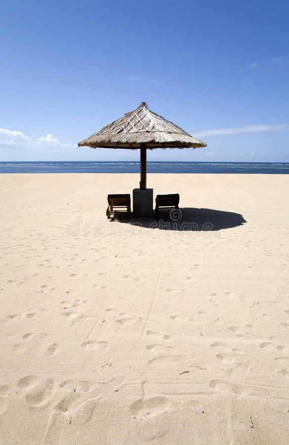 6 стулов пляжа стоковые изображения rf
