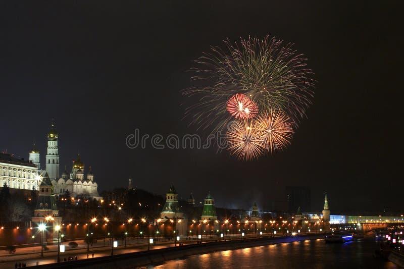 6 феиэрверк kremlin ближайше стоковая фотография rf