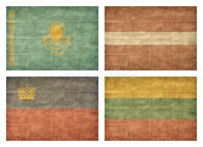 6 13 krajów europejczyka flaga royalty ilustracja