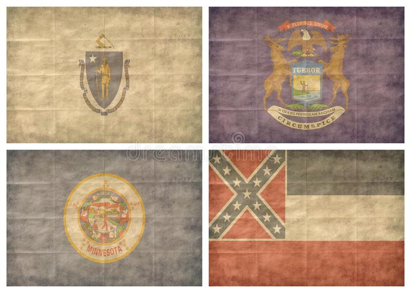 6/13 US state flags royalty free stock image
