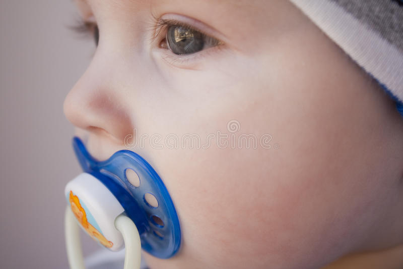 6 7个婴孩月纵向 库存图片