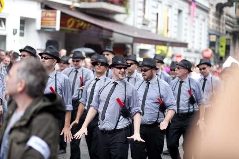 6 agosto, giorno della via del Christopher, Amburgo, parità gaia fotografie stock libere da diritti