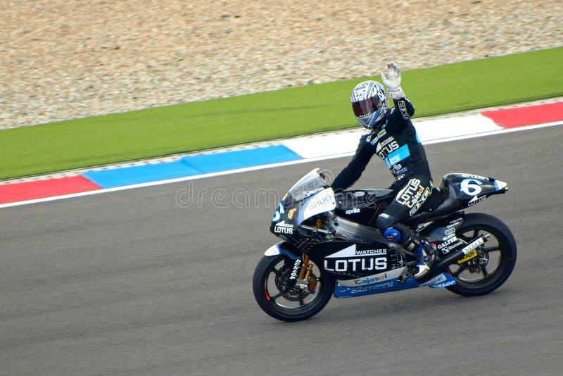 #6 Alex DEBON - vincitore della corsa 250cc immagine stock