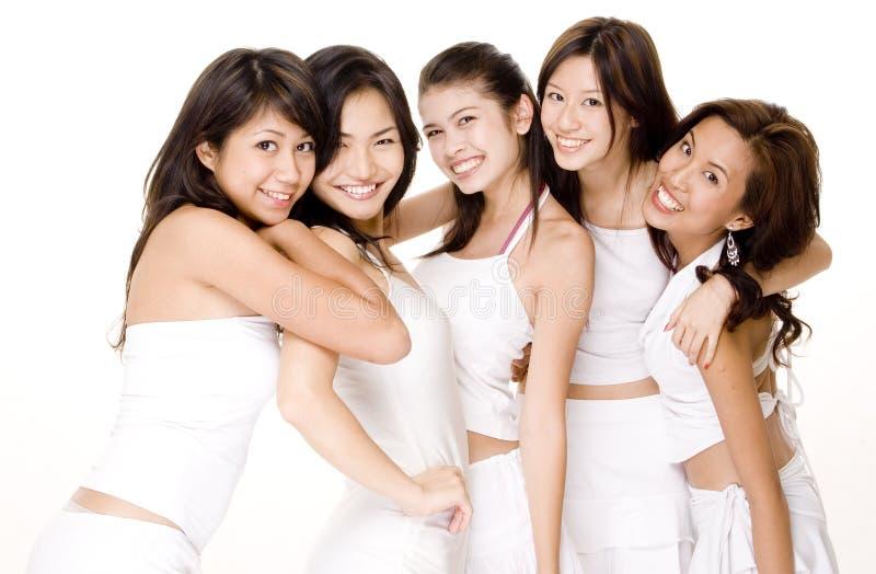 6 azjatykcich białych kobiet.