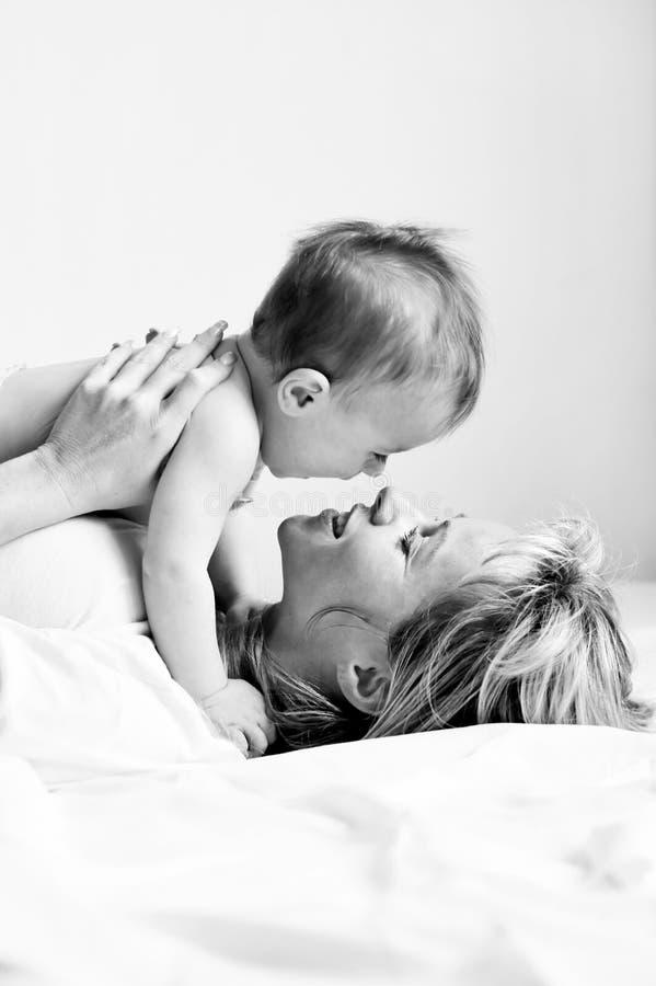 6 chłopiec matka zdjęcia stock