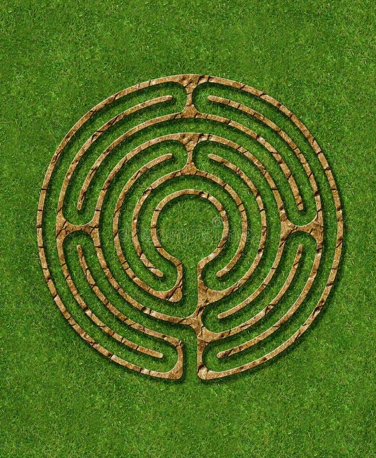 6 circuit labyrinth vector illustration