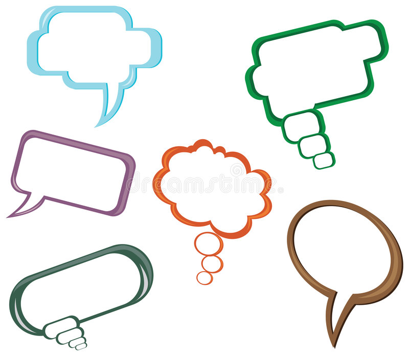 Download 6 Different Dialog Balloon Stock Photography - Image: 4800072