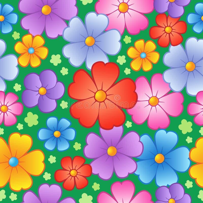 6 flowery άνευ ραφής ανασκόπησης διανυσματική απεικόνιση