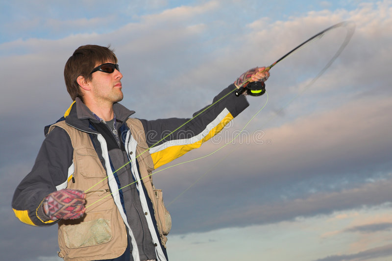 #6 Flyfishing fotografia stock libera da diritti
