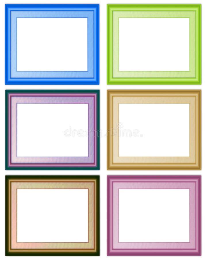 6 frames ilustração royalty free
