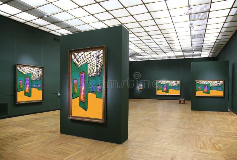 6 galeria sztuki obrazy stock