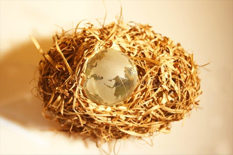 6 globe kryształów fotografia stock
