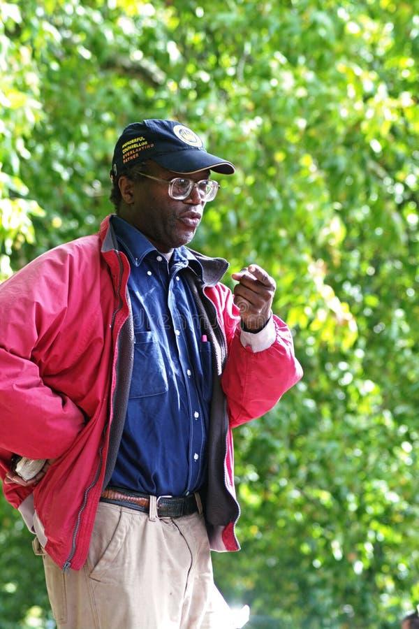 6 hörnHyde Park preachers fotografering för bildbyråer