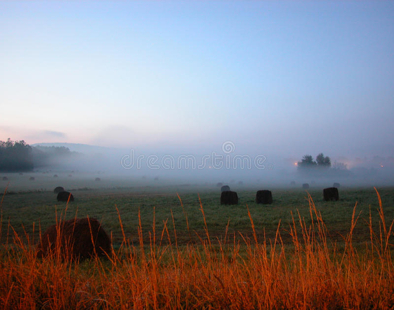 6 AM Hayfeild stock fotografie