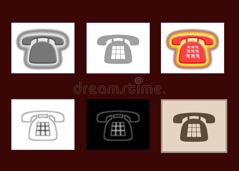 6 iconos del teléfono libre illustration