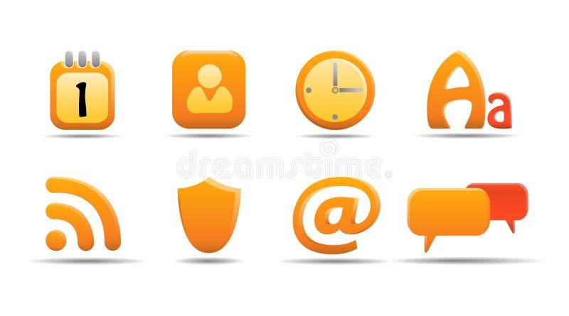 6 ikon serii dyniowych ustalają sieci ilustracji
