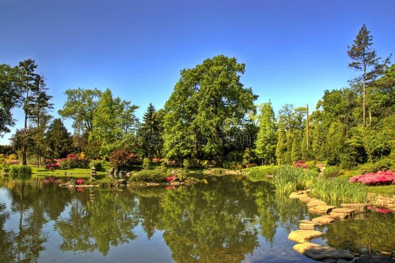6 japoński ogród obrazy stock