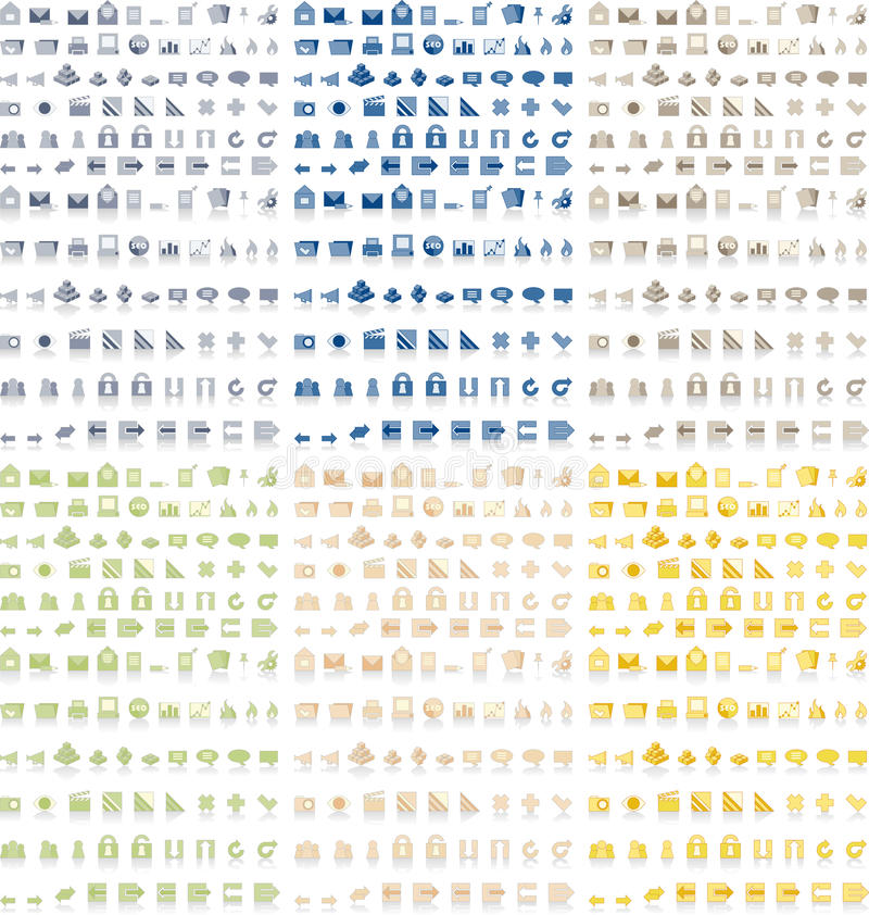 6 kolorów ikon paczka