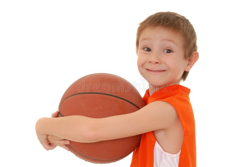 6 koszykówek chłopcze zdjęcie stock