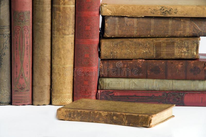 6 livres antic photos stock