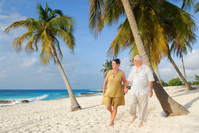 6 lyckliga pensionärer arkivbilder
