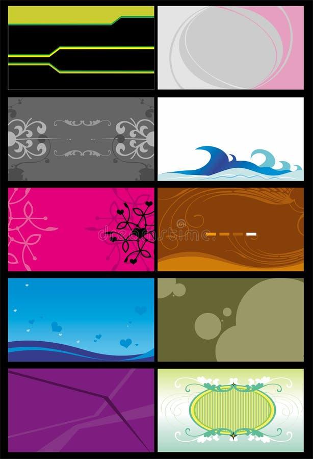 6 mallar för affärskort royaltyfri illustrationer
