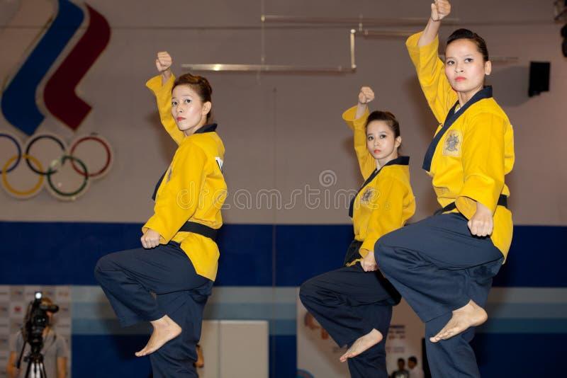 6. Meisterschaft WTF Welttaekwondo-Poomsae lizenzfreie stockfotografie