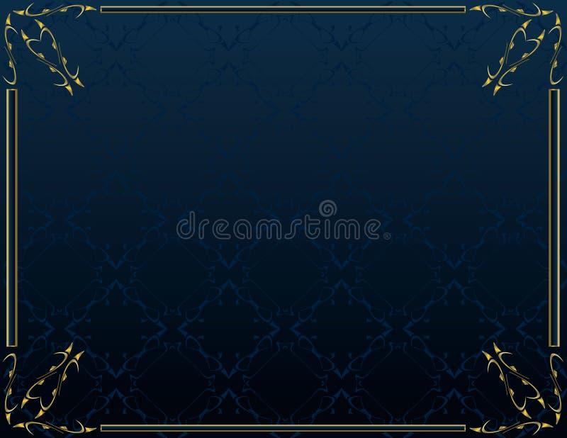 6 niebieski tła elegancki złoto ilustracji