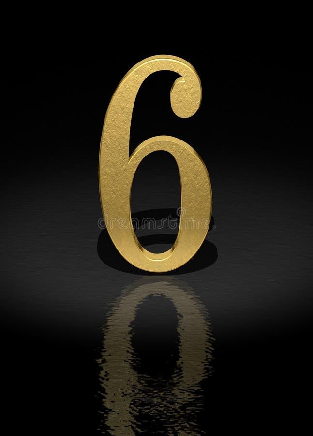 6 numerów ilustracja wektor