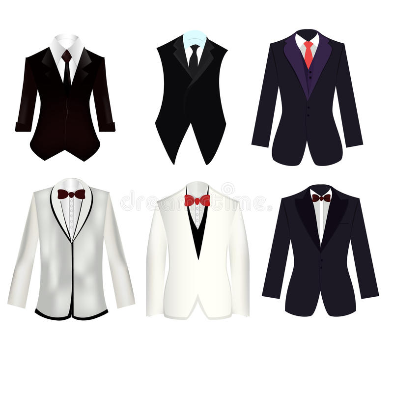 Free 6 Of Suit And Tuxedo Set Stock Photography - 58125282