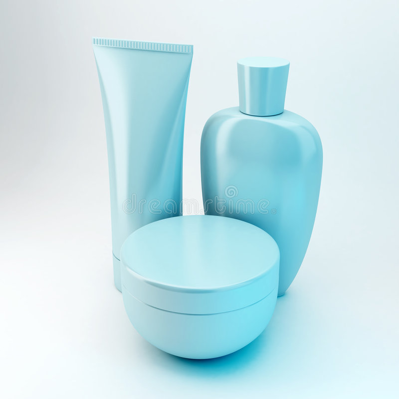 6 produktów kosmetycznych fotografia stock