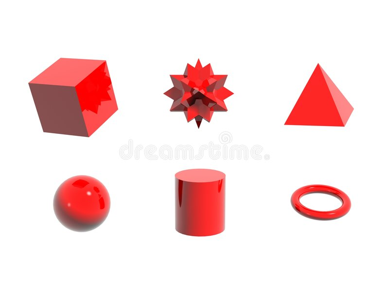 Download 6 red objects stock illustration. Illustration of shiny - 463819