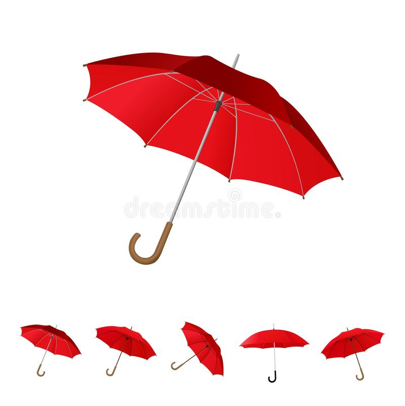 Free 6 Red Umbrella Set Stock Photos - 14118843