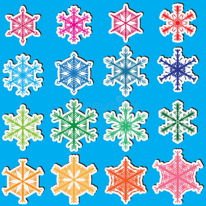 Download Snowflakes Set_eps stock vector. Image of celebration - 27312142